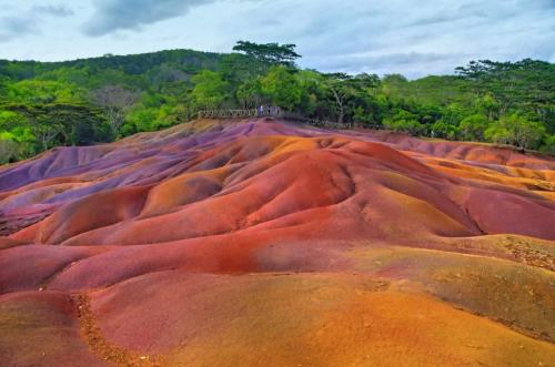 Seven Colored Earths At Chamarel Park, Mauritius